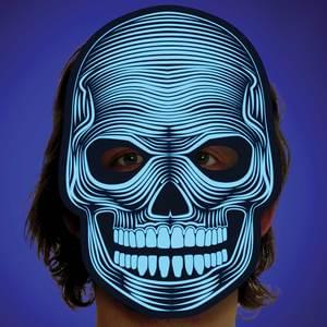 Light Up Sound Activated Skeleton Mask - Make It Up Costumes