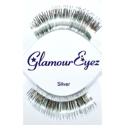 Metallic Silver Lashes - Make It Up Costumes