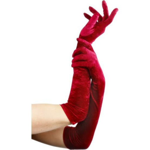 Long Velveteen Gloves for Women - Make It Up Costumes