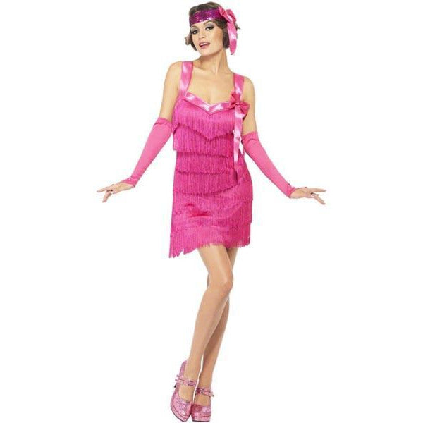Pink Flapper Costume - Make It Up Costumes