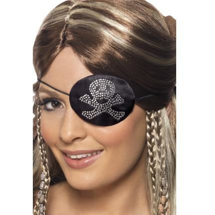 Rhinestone Pirate Eye Patch - Make It Up Costumes