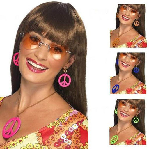 1960's Peace Sign Costume Jewelry Set - Make It Up Costumes