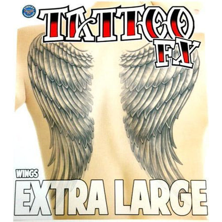 Professional Angel Wings Temporary Tattoo - Make It Up Costumes