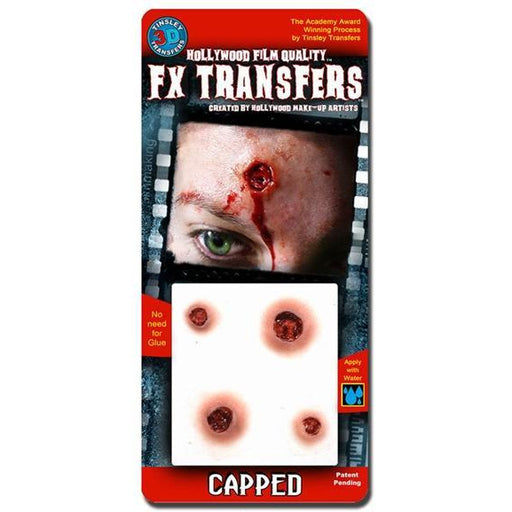 FX Transfers Fake Bullet Wound - Capped - Make It Up Costumes