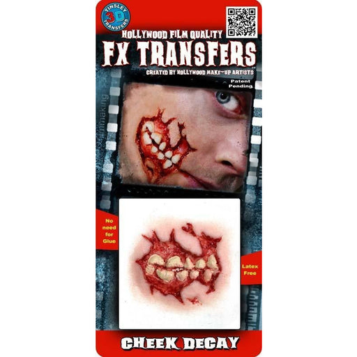 FX Transfers Cheek Decay Zombie Prosthetic - Make It Up Costumes