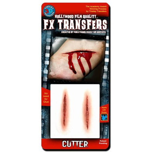 FX Transfers Fake Prosthetic Cuts - Cutter - Make It Up Costumes