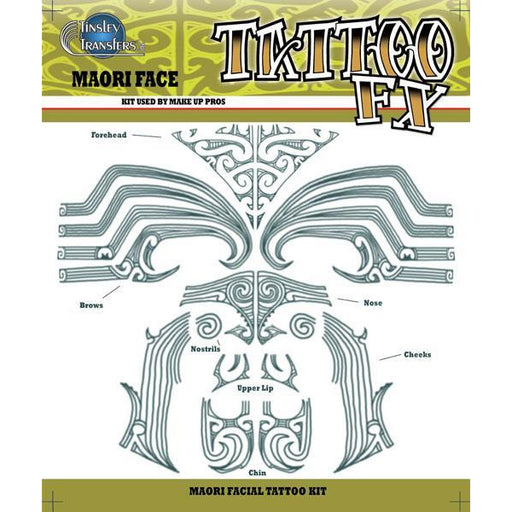 Maori Temporary Tattoo Kit - Make It Up Costumes