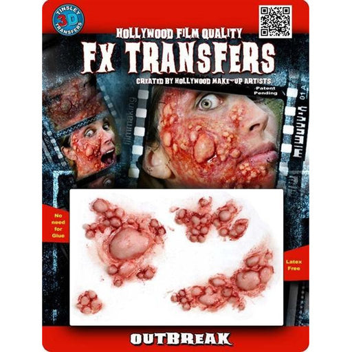 FX Transfers Fake Blisters - Outbreak - Make It Up Costumes