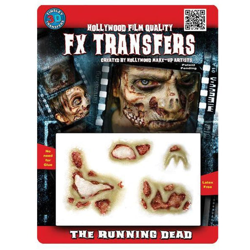 FX Tranfers The Running Dead Zombie Prosthetics - Make It Up Costumes