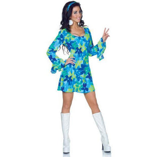 Women's Flower Power Hippie Dress - Make It Up Costumes