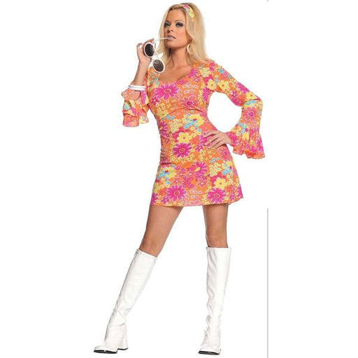 Women's Flower Power Hippie Costume - Make It Up Costumes