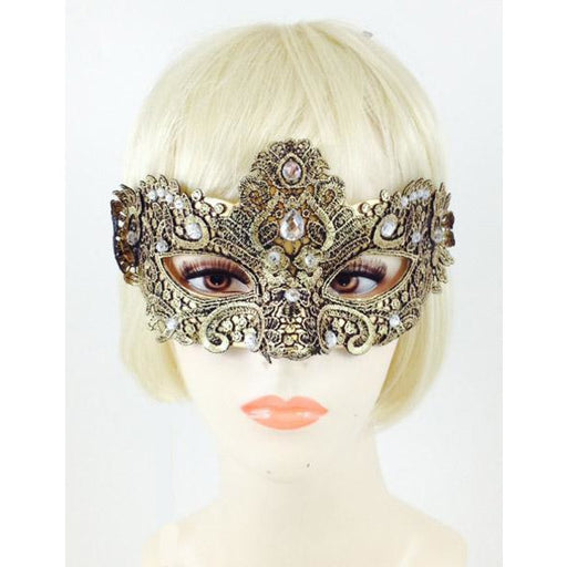 Vennia Eye Mask with Jewels - Make It Up Costumes
