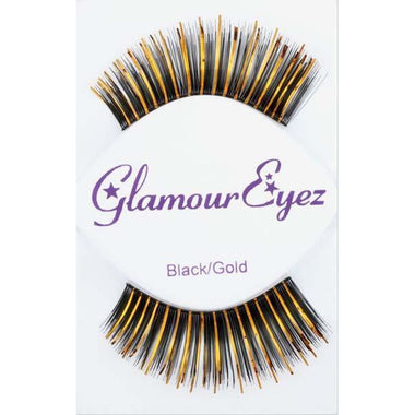 Black & Gold Lashes - Make It Up Costumes
