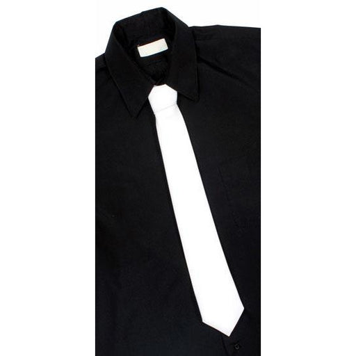 White Dacron 1920s Gangster Tie - Make It Up Costumes