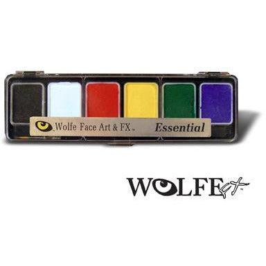 Wolfe FX Face Paint Makeup Palette - 6 Colors - Make It Up Costumes