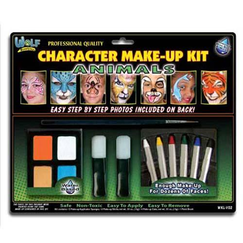 Wolfe Animal Face Paint Kit - Make It Up Costumes