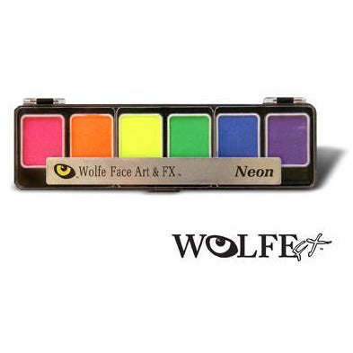 Wolfe FX Black Light Face Paint Makeup Palette - Make It Up Costumes