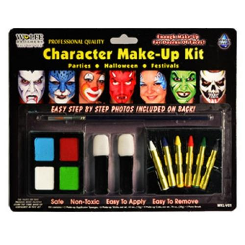 Wolfe Character Face Paint Kit - Make It Up Costumes