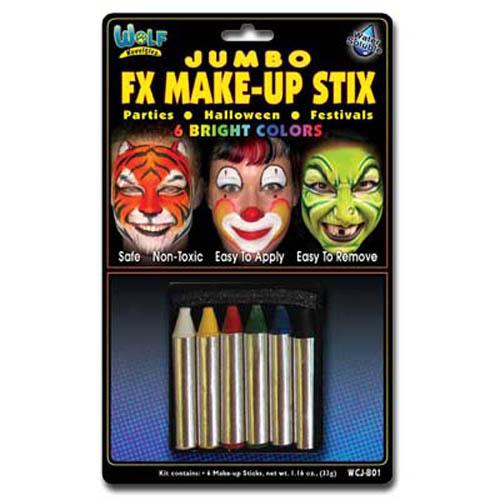 Wolfe Jumbo Face Paint Crayons - Make It Up Costumes