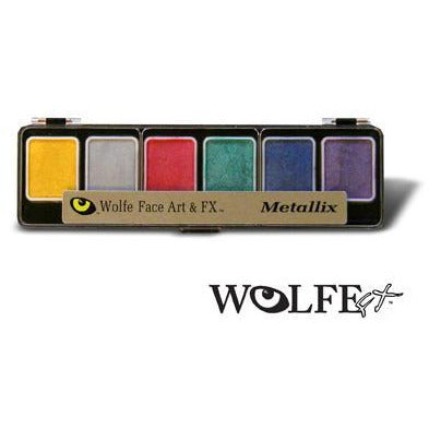 Wolfe FX Metallic Face Paint Makeup Palette - Make It Up Costumes
