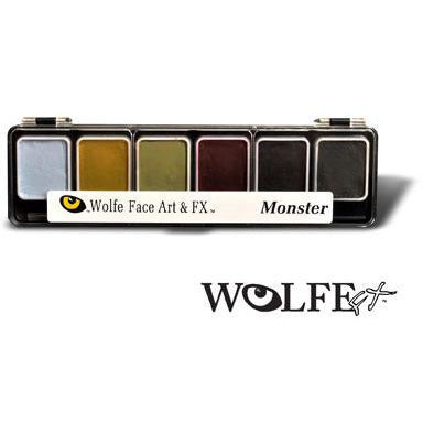 Wolfe FX Monster Face Paint Makeup Palette - Make It Up Costumes