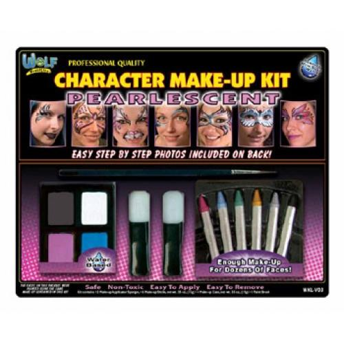 Wolfe Pearlescent Face Paint Kit - Make It Up Costumes