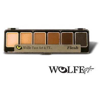 Wolfe FX Skinz Face Paint Makeup Palette - Make It Up Costumes