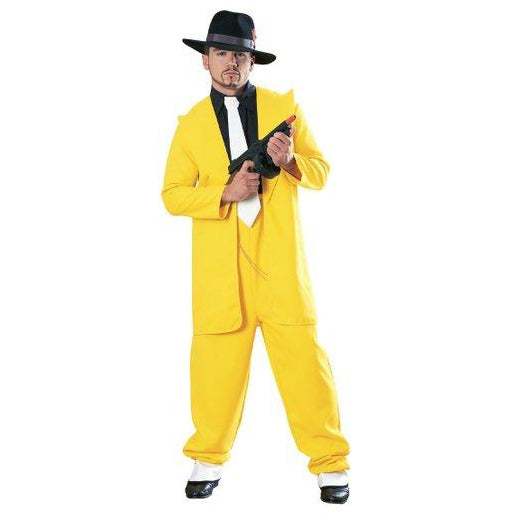 Yellow Zoot Suit Adult Costume - Make It Up Costumes