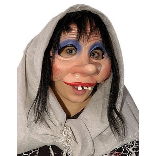 Mrs. Bashfool Character Mask with Hair - Make It Up Costumes
