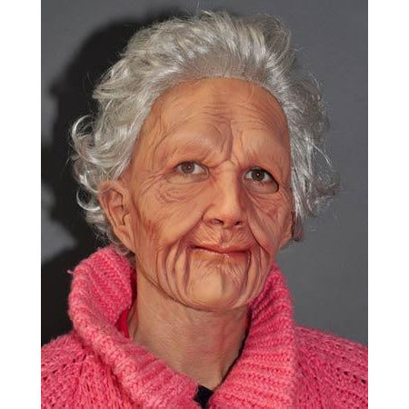 Supersoft Realistic Old Woman Mask - Make It Up Costumes