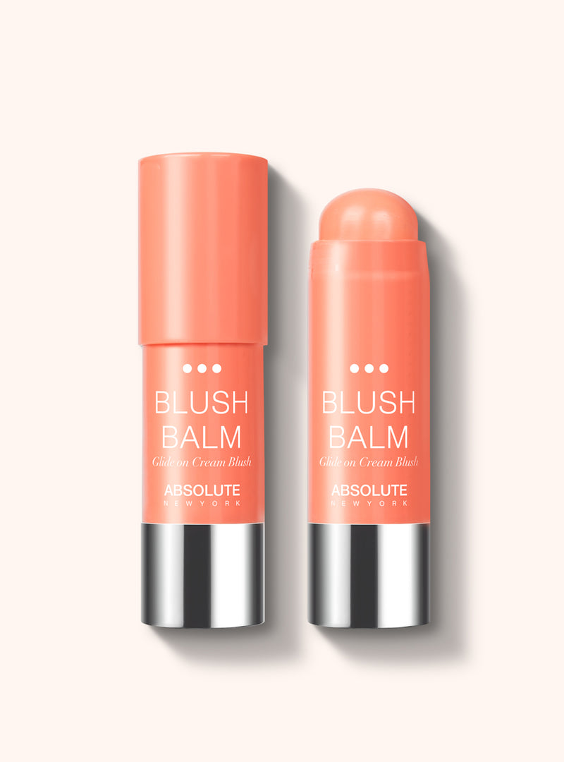 Blush Balm (Papaya) by Absolute New York - retractable, cream stick blush in salmon pink.