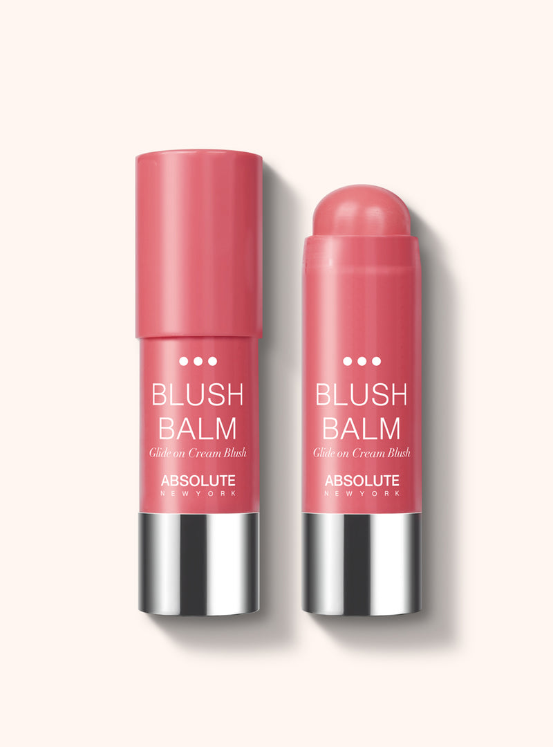 Blush Balm (Razzle) by Absolute New York - retractable, cream stick blush in rosy mauve.