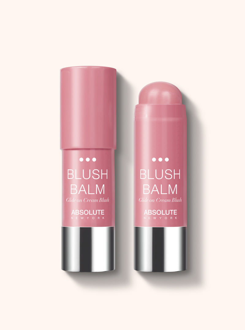 Blush Balm (Sangria) by Absolute New York - retractable, cream stick blush in dusty rose.