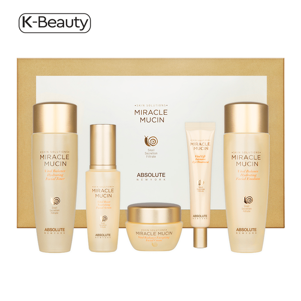 Absolute New York 5-Piece Miracle Mucin Skincare Set 52.8 oz / 1496.85 g