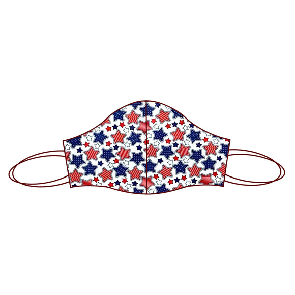 4th July inspired Fabric Face Mask | 4th July Stars