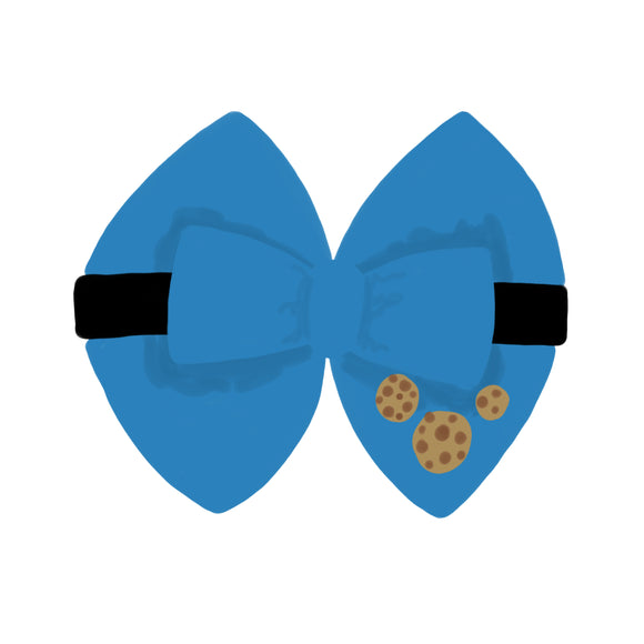 Cookie Monster inspired Character Hair Bow | Swap your Bow Ears | Sesame Street inspired Mouse Ears