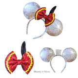 Dumbo inspired Sequin Hair Bow | Silver Sequin Swap Your Bow Ears | Mouse Ears | Custom Mouse ears | Dumbo Elephant inspired Mouse Ears