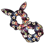 Galaxy Mouse inspired Hair Scrunchie | Hair Tie | Hair Knot | Scrunchy | Mickey Mouse inspired Knotted Scrunchies