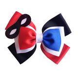 Harley Quinn inspired Character Hair Bow | Swap your Bow Ears | MagicBand Bow | Super Hero Girls inspired Mouse Ears