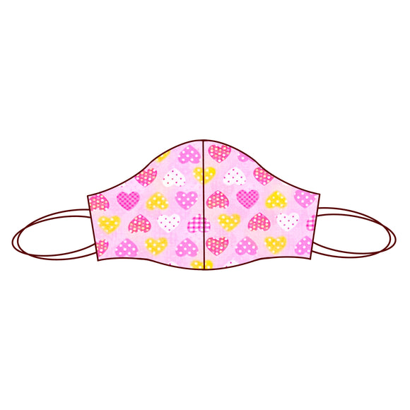 Heart inspired Fabric Face Mask | Heart Pink 1