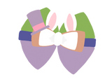 Mr Easter Bunny inspired Character Hair Bow | Swap your Bow Ears | MagicBand Bow | Disney World inspired Mouse Ears