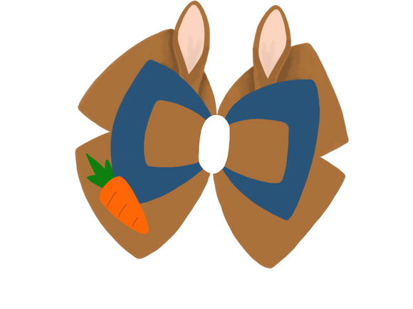 Peter Rabbit inspired Character Hair Bow | Swap your Bow Ears | MagicBand Bow | Beatrix Potter inspired Mouse Ears
