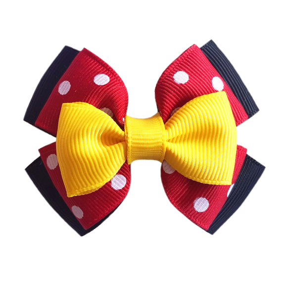 Minnie Mouse inspired Character Hair Bow | Swap your Bow Ears | Minnie Mouse inspired Mouse Ears