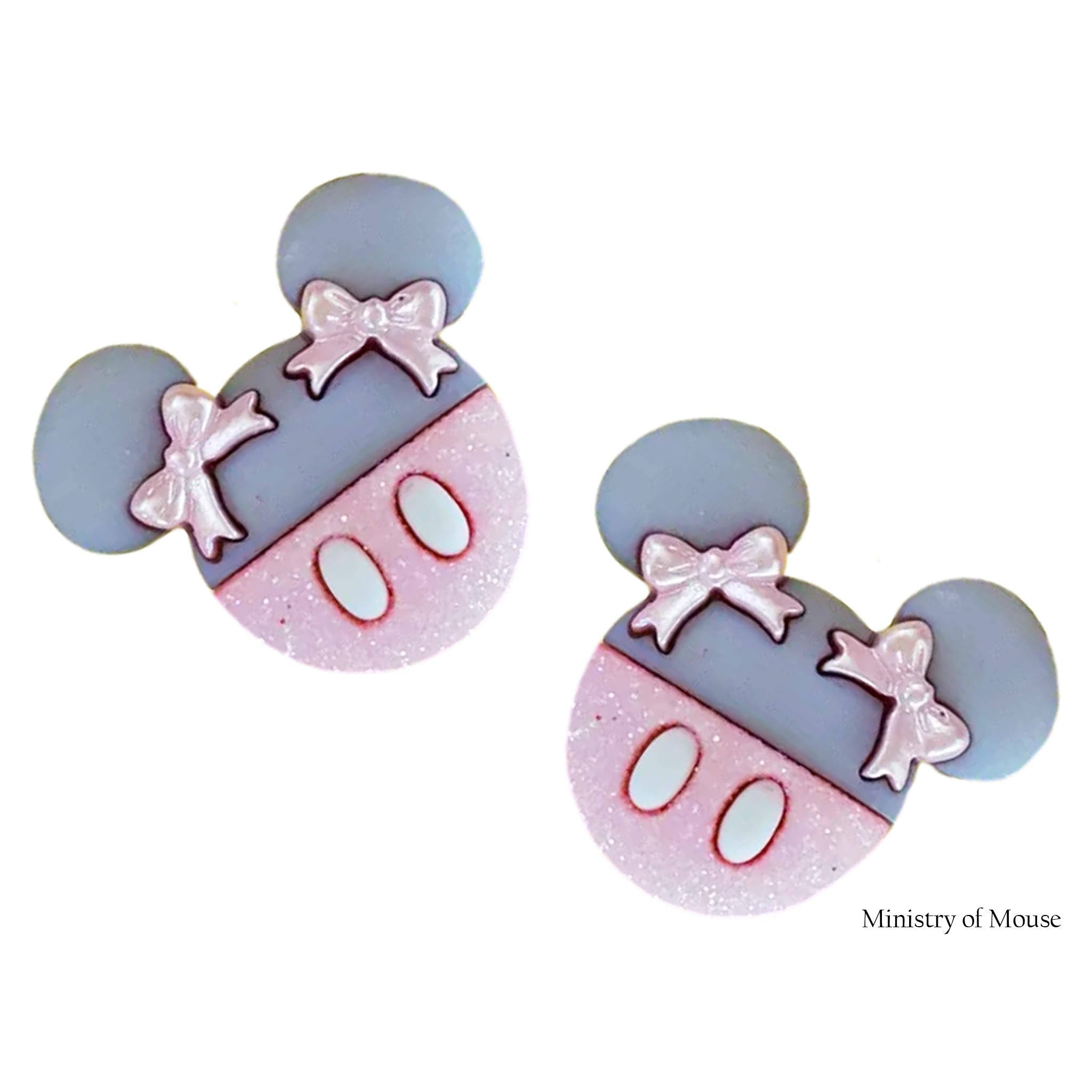Minnie Mouse Inspired Earrings