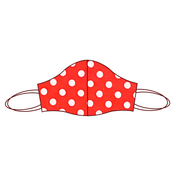 Spot inspired Fabric Face Mask | Spot Red 1