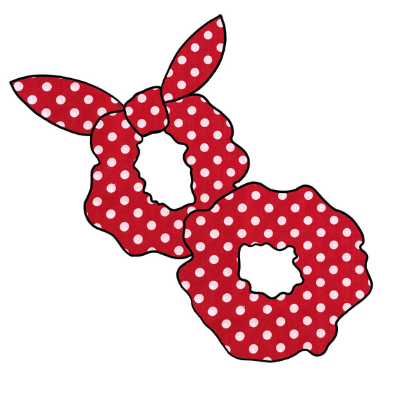 Red Spot inspired Hair Scrunchie | Hair Tie | Hair Knot | Scrunchy | Minnie Mouse inspired Knotted Scrunchies