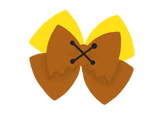 Barney Rubble inspired Character Hair Bow | Swap your Bow Ears | Flinstones inspired Mouse Ears