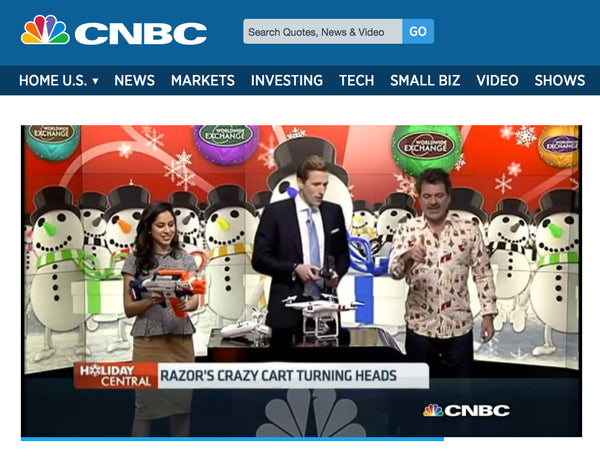 christmas shirt on CNBC
