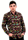 Christmas Shirt Xmas Patterned Funky christmas jumpers mens shirt xmas sweater longsleeve xmas top mens unisex womens