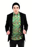 Christmas Shirt Xmas Patterned Funky christmas jumpers mens shirt xmas sweater longsleeve xmas top mens unisex womens green jacket